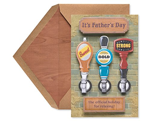 (American Greetings Sweet Bold Strong Father's Day Greeting Card with Foil)