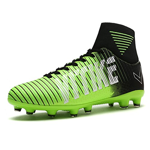 b6d303f2c3a Littleplum Kids Soccer Shoes Football Boots Cleats High-Top With Sock For  Boy Performance Shock