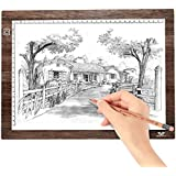 A4 LED Light Box Tracer Ultra-Thin USB Powered Portable Dimmable Brightness 60 LED Lamp Beads Artcraft Tracing Light Pad Light Box for Artists, Drawing, Sketching, Animation, X-ray Viewing, Sewing