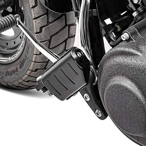 matt Fussrasten FP14 f/ür Harley Softail Slim//Street Bob Street 500//750 schw
