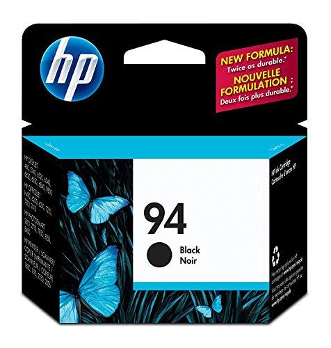 HP 94 Black Original Ink Cartridge (C8765WN) for Deskjet 460 6830 6840 6988 8150 8450 9800 Officejet 150 H470 7210 7310 7410 PSC 1510 1610 2355 Photosmart 2575 8750 B8350 - Hp Printer 1610
