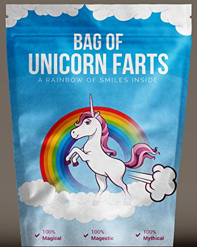 Bag of Unicorn Farts (Cotton Candy) Funny Unique Gag Gift for Friends, Mom, Dad, Birthday Girl, Boy (Valentines Day Gifts For Girls)