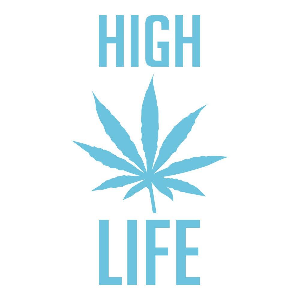 Azutura Hohes Leben Leben Leben Wandtattoo Cannabis-Unkraut-Zitat Wand Sticker Schlafzimmer Haus Dekor verfügbar in 5 Größen und 25 Farben Mittel Gras Grün B00E2YIHQE Wandtattoos & Wandbilder 37e310
