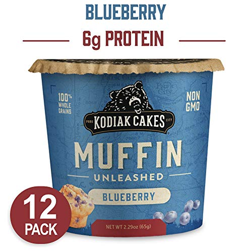 Kodiak Cakes Minute Muffins, Mountain Blueberry, 2.29 Ounce (Pack of 12) (Packaging May Vary) (Minute Corn)