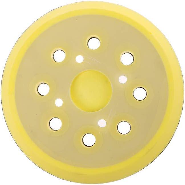 5 pulgadas 125 mm 8 agujeros almohadilla de lija de respaldo 4 clavos gancho y bucle lijadora almohadilla de respaldo para amoladora el/éctrica herramientas el/éctricas accesorios