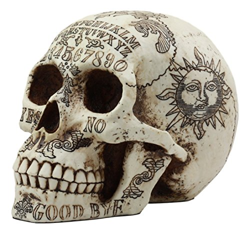 Ebros Paranormal Ouija Spirit Medium Skull Figurine Supernatural Occultist Sculpture As Home Decorative Witchcraft Medium Halloween Party Centerpiece]()