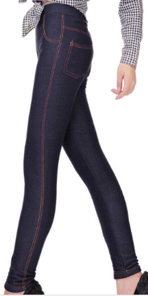 Lovful Women's Winter Warm Denim Legging Fake Jeans Thick Full Length Leggings Fleece Lined Jeggings,Dark Blue by Lovful (Image #2)