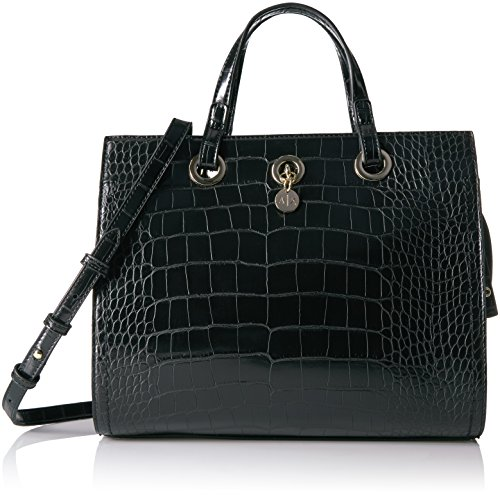 A|X Armani Exchange Croc Med Shopper, - Bag Black Armani