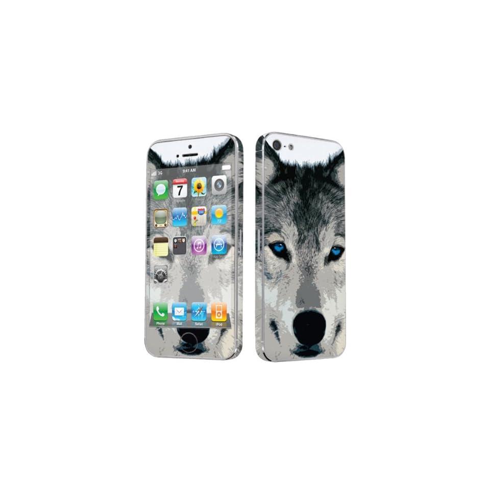 Apple iPhone 5 Full Body Vinyl Decal Protection Sticker Skin Wolf By Skinguardz