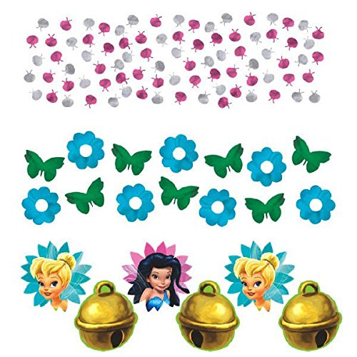 Disney Tinkerbell Birthday Party Confetti Value Pack Decoration (1 Piece), Multi Color, 1.2 oz.