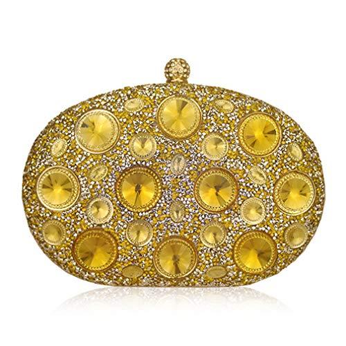 Blue Crystal Clutch Rhinestones gold Handbag Purse Designer Wedding Women Light ULKpiaoliang Metal Evening Bags Party Giant EqUPH