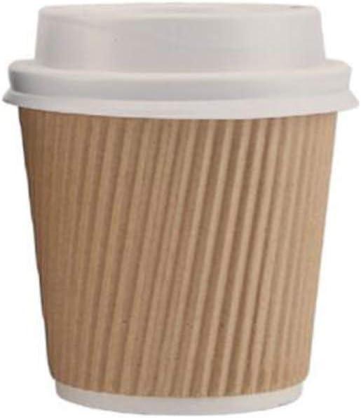 Color : Black 100 ensembles tasse /à espresso 8HAOWENJU Tasse /à papier en carton ondul/é jetable petite tasse /à papier 100 ml tasse /à /échantillon /à double couche