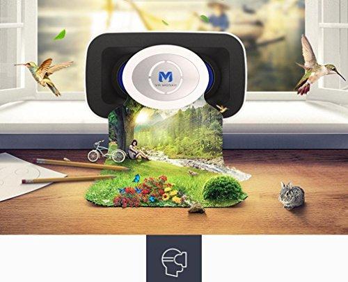 [해외]놀라 상 3D 가상 현실 헤드셋 VR 안경 블루투스 원격 제어 아이폰 안드로이드 파노라마 감상 영화 비디오 4.7-6Inches Screen/Nola Sang 3D Virtual Reality Headset VR Glasses Bluetooth Remote Control Iphone Android Panoramic Watching Movies...