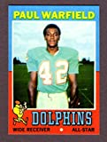 Paul Warfield 1971 Topps Football Reprint **Hall of Famer** (Browns) (Dolphins)