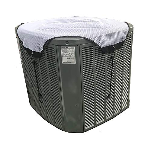 YELAIYEHAO Air Conditioner Top Cover, All Season Sturdy Mesh Design Air Conditioner Cover Keep Out Leaves, Air Conditioner Covers for Outside Units, A/C Unit Protector (White, 32
