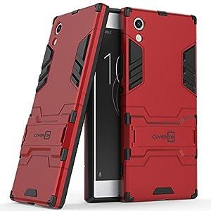 Xperia XA1 Case, CoverON Shadow Armor Series Modern Style Slim Hard Hybrid Phone Cover with Kickstand Case for Sony Xperia XA1