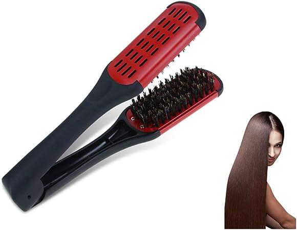Thermo Ceramic enderezamiento cepillo alisador cabello alisamiento ...