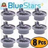 Ultra Durable 165314 Dishwasher Lower Rack Wheel Replacement Part by Blue Stars - Exact Fit for Bosch & Kenmore Dishwashers - Replaces 00420198 420198 - PACK OF 8