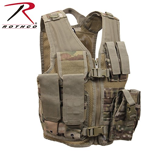 Rothco Kid's Tactical Cross Draw Vest, Multicam