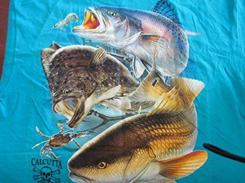 Calcutta CCB-CAL43XL T-Shirt, Carb Blue, Inshore Slam Short Sleeve, (Calcutta Fishing Shirts)