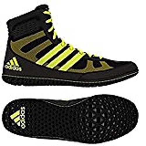 Adidas Ace 16.1 Primeknit fg / ag Botines de fútbol (verde solar, choque rosa), 12,0 D (m) con noso Black/Solar Yellow