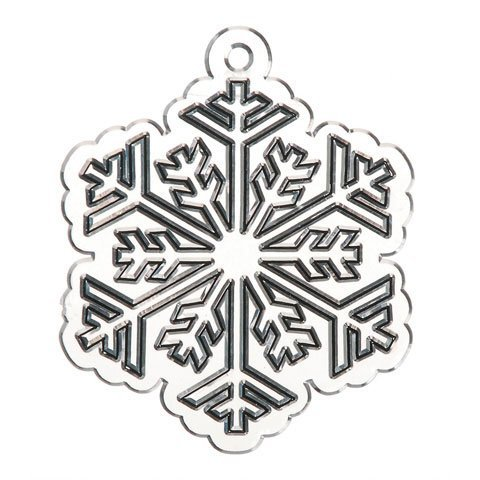 Bulk Buy: Darice Crafts for Kids Suncatcher Snowflake 4 inch