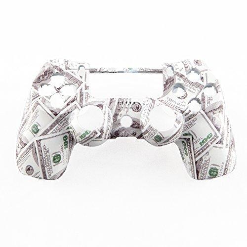 Hundred Dollar Bills Hydro-Dipped Custom Controller Shell for PS4 by GamerModz