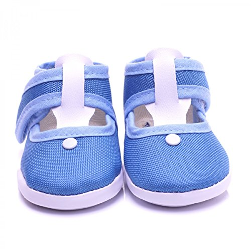 Toma BS118 - Patucos de lana para niña Azul