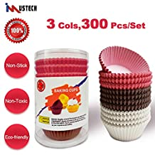iMustech® 300 Pcs Baking Cups,Muffin Cups with 3 Cols,Mini Baking Cups,Cup Liners,Cupcake Boxes,Cupcake Liner,Cupcake Paper Baking Cup Liners,Perfect for Parties,Birthday & Wedding