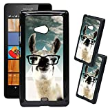 [TeleSkins] - Microsoft Lumia 540 Designer Plastic Case - Hipster Llama Geek Glass - Ultra Durable HARD PLASTIC Protective Snap On Back Case / Cover for Microsoft Lumia 540.