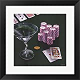 Poker Chips Big Slick by Michael Godard Framed Art Print Wall Picture, Black Frame, 18 x 18 inches