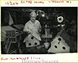 Historic Images 1991 Press Photo Edward Hermann builds birdhouses in his Metairie work shop - 8 x 10 in