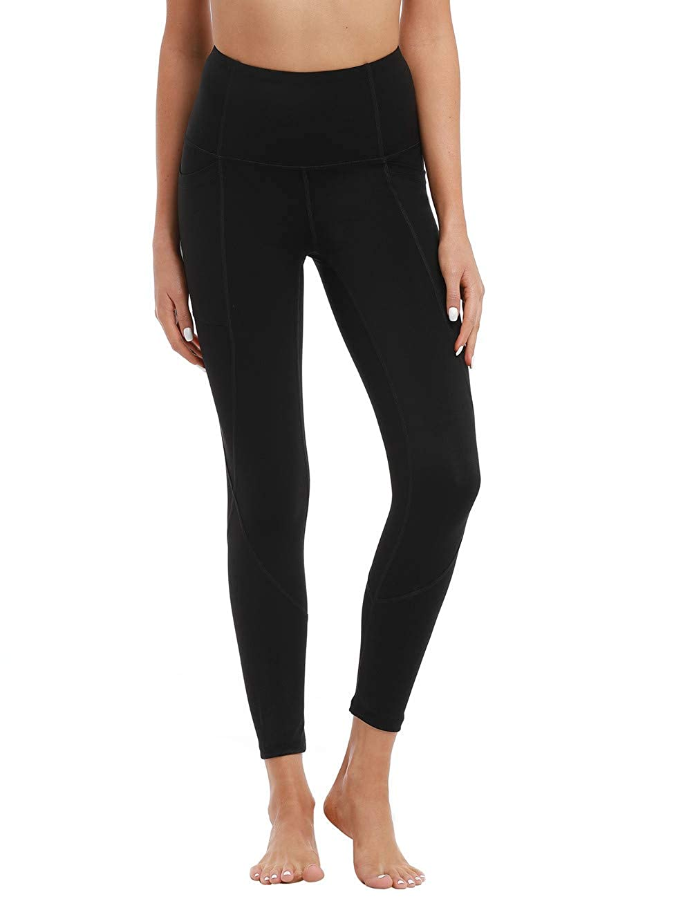 Hopgo Womens High Waist Workout Leggings Power Flex Yoga Pants Tummy Control 7//8 Sports Tights Side Pocket