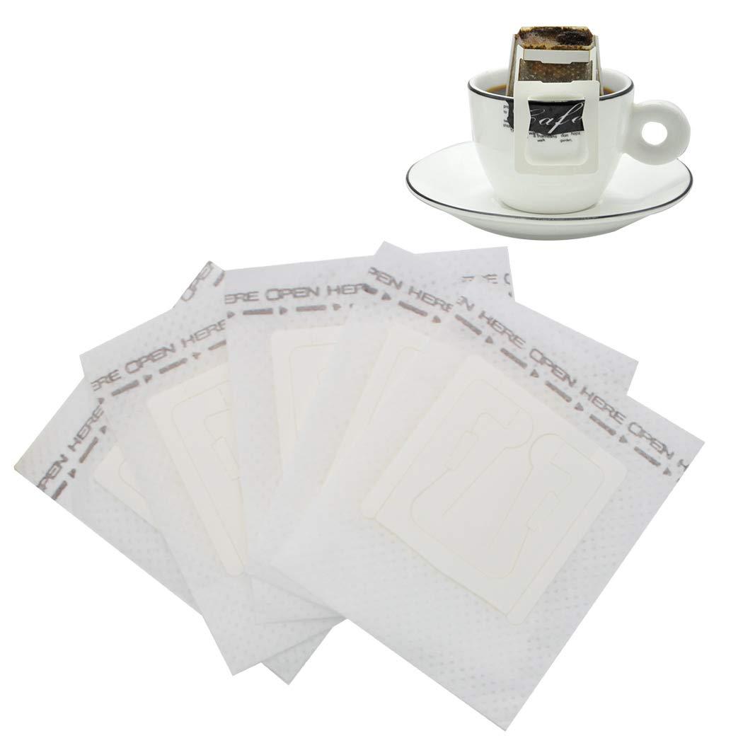 SIPLIV ペーパーコーヒーフィルター 使い捨てシングルカップフィルター コーヒーフィルター 吊り下げ式イヤードリップ 不織布 コーヒー ティーバッグ 旅行用 コーヒーメーカー 53584  50 pcs B07KJ67Y6V