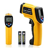 Laser Infrared Thermometer, Non-contact DigitalTemperature Gun, -58℉~ 716℉ (-50℃ ~ 380℃), Yellow and Black (-58℉~716℉)
