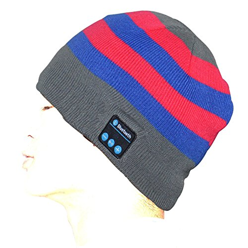 Wireless Bluetooth Hat Hands-free Phone Call Answer For Travelling and Christmas Gifts (3 Color Stripe)