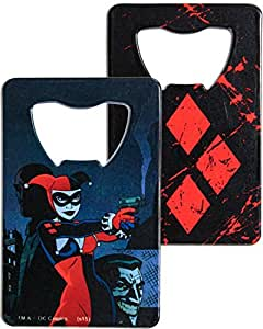 "DC Comics Stainless Steel 3.75"" Harley Quinn Graphic Credit Card Bottle Opener"