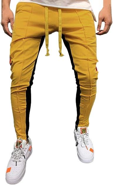 Solido Casual Pantalones Hombre Pitillo Blanco Rojo Azul Suelto Pantalones Hombre Chandal Anchos Labor De Retazos Color Pantalon De Chandal Pantalones Baratos Pantalon Jogger Amazon Es Ropa Y Accesorios