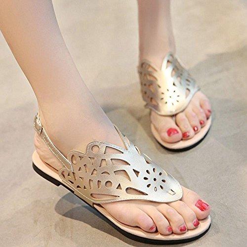 Femmes Sandales d Ete Gold 1 Chaussures Zanpa qPndSq