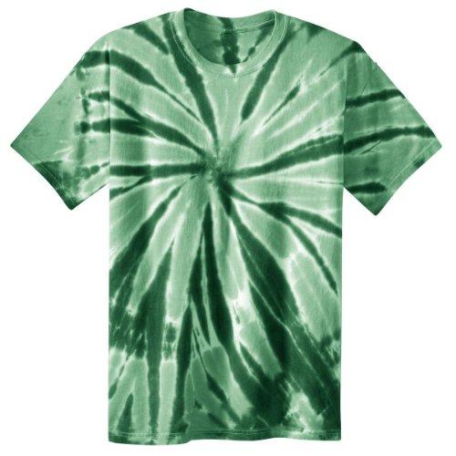 Port & Company Boys' Essential Tie Dye Tee S Forest Green (Tie Dye Tee S/s)