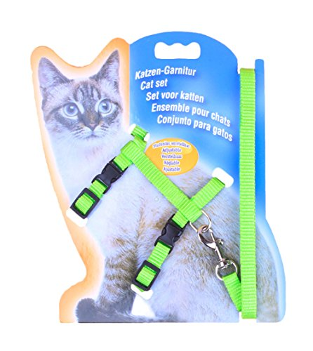 Freerun Cat Lead Leash Halter Harness Kitten Nylon Strap Belt Safety Rope Adjustable Cat Dog Collar - Green (Cheap Settee For Sale)