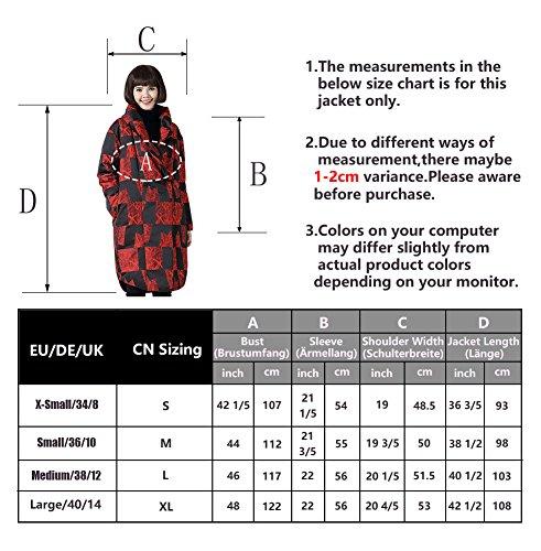 Mena In Giacche Sezione Anatra Di Più Sciolto Sottile Lunga Inverno Marca Cappotto Bianca Rosso Donne Delle Giù Mista qqf6r7nA