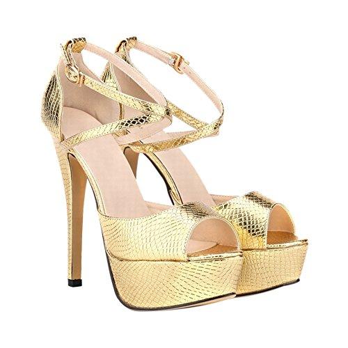 Dames Talons Bouche Plate sandale Poisson Club Boucle Party Chaussures hauts forme Meijunter New aBdwaY