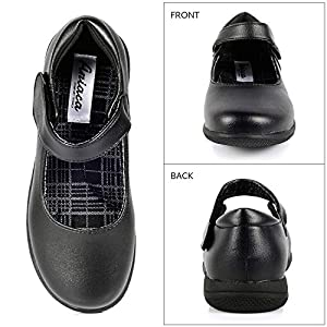 Girl's Mary Jane Flat Black School Uniform Shoe (Toddler/Little Kid/Big Kid)