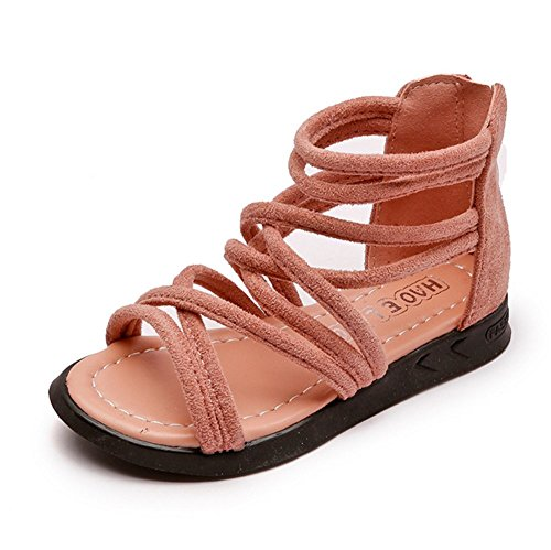 Pictures of Meckior Toddler Kids Girls Classical Flat Sandals 1
