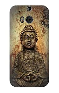 S0344 Buddha Rock Carving Case Cover For HTC ONE M8