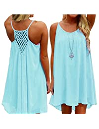 Amstt Womens Summer Sexy Vibrant Color Chiffon Dress Bathing Suit Cover Up