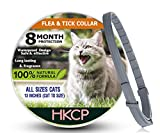 HKCP Flea and Tick Collar for Cat - Prevention Control for Cat-8 Months Protection Allergy-Free Medicine-Waterproof flea tick Collar