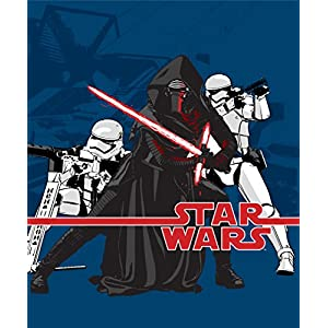Star Wars Ep7 Live Action Blue Fleece Throw
