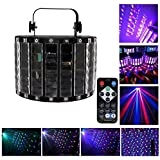 LifegoDJ LightsLED Party Lights Auto Sound Control Effect Strobe Flash DMX 9 Color 14 Pattern MultiColor Wide Beam 27W RGBW Stage Light for Disco Wedding Events Club (Metal Casing) [並行輸入品]